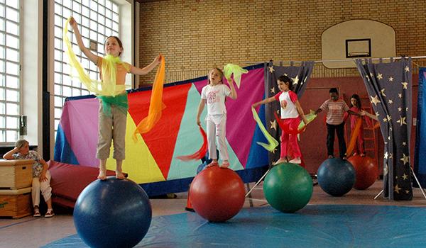 Egestorf-Schule Zirkusprojekt Probe